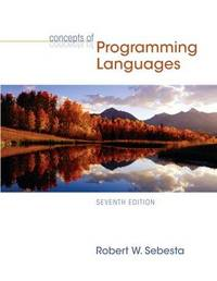 image of Concepts of Programming Languages (7th Edition)