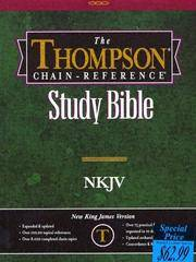 image of Thompson Chain Reference Bible (Style 309black index) - Regular Size NKJV - Bonded Leather