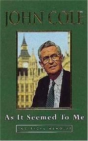 As it Seemed to Me: Political Memoirs