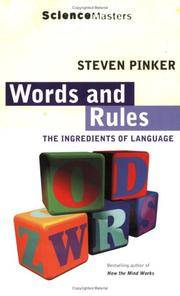 image of Words and Rules: The Ingredients of Language (Science Masters)