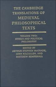 The Cambridge Translations of Medieval Philosophical Texts: Ethics and Political Philosophy