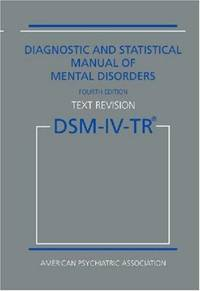 image of Diagnostic and Statistical Manual of Mental Disorders DSM-IV-TR Fourth Edition (Text Revision)