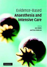 Evidence-based Anaesthesia and Intensive Care by  Tom  Ann; Pedersen - Paperback - 1st Edition  - 2006 - from Encore Books & Records and Biblio.com