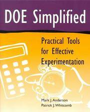 DOE Simplified: Practical Tools for Effective Experimentation (Quality Management)