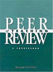 Peer Review of Teaching : A Sourcebook