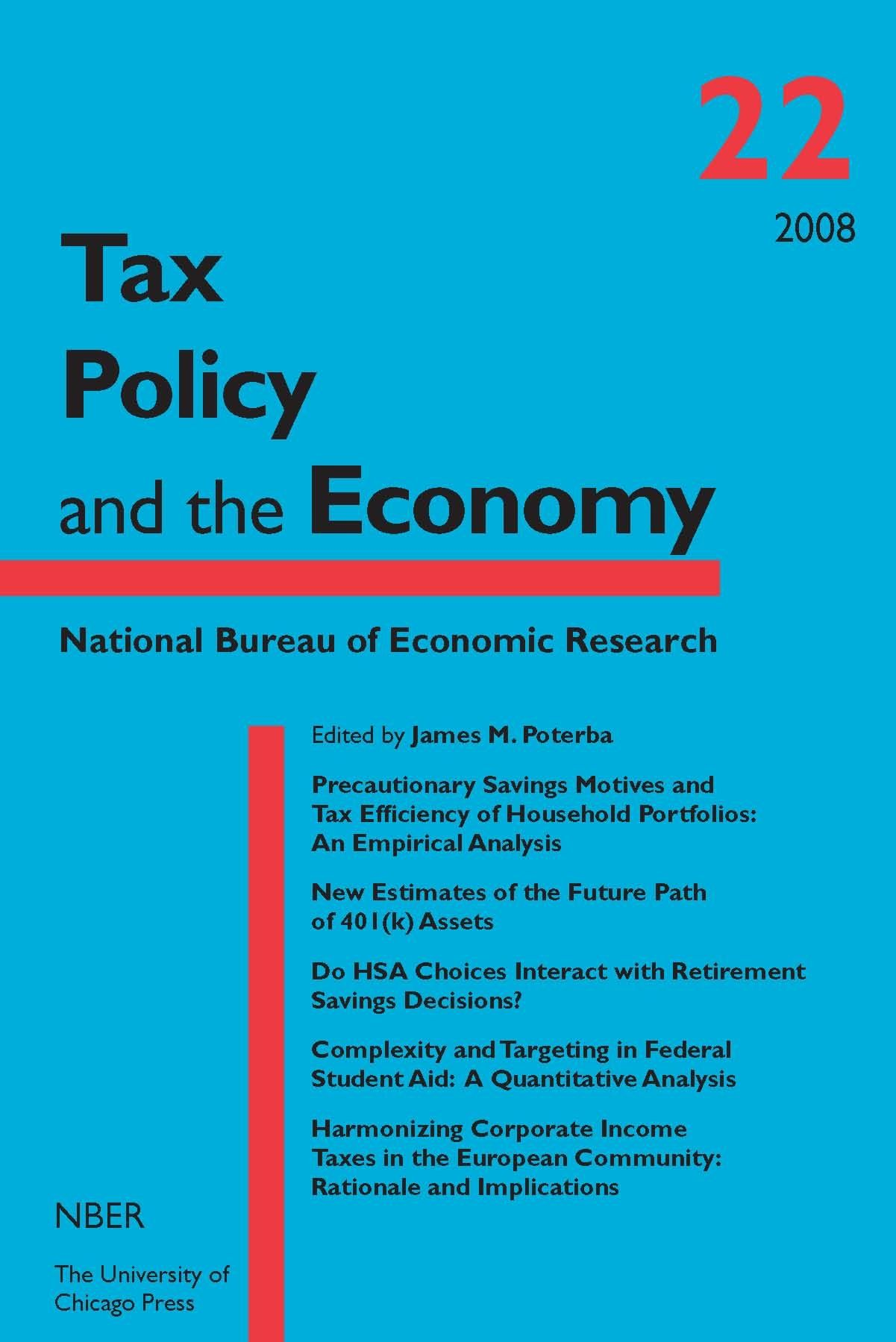 Tax policy and the economy volume 22 national bureau of economic research tax policy and the - Bureau for economic research ...