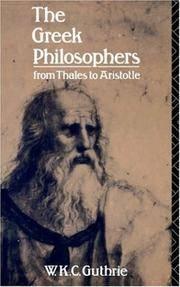 The Greek Philosophers