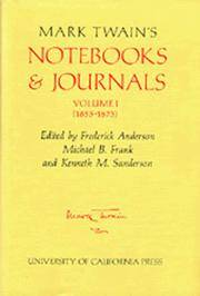 Mark Twain's Notebooks & Journals, Volume I [1 & 2] - (The Mark Twain Papers)