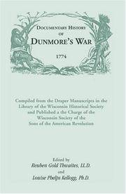 Documentary History Of Dunmore's War, 1774