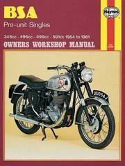BSA Preunit Singles, 1954-61 (Haynes Repair Manuals)