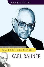 Karl Rahner (Fount Christian Thinkers) by Kilby, Karen