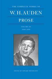 W.H. Auden: Prose [volume 3]