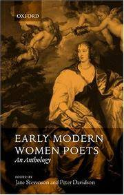 Early Modern Women Poets: An Anthology