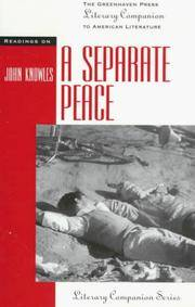 image of Literary Companion Series - A Separate Peace (paperback edition)