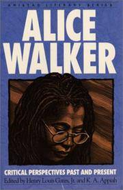 image of Alice Walker : Critical Perspectives Past and Present