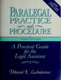 PARALEGAL PRACTICE PROCEDURE SECOND EDITION