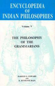 ENCYCLOPEDIA OF INDIAN PHILOSOPHY, VOL.5: The Philosophy Of The Grammarians