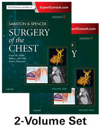 SABISTON AND SPENCER SURGERY OF THE CHEST 2 VOL SET 9ED (HB 2016)