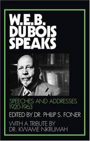 Web Du Bois Speaks