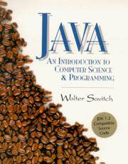 Java: An Introduction to Computer Science and Programming