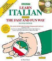 Italian the Fast and Fun Way (Compact Discs) Second Edition.