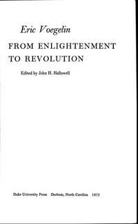 From Enlightenment to Revolution