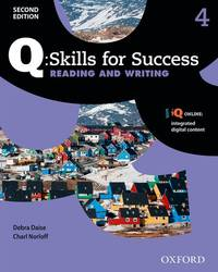Q SKILLS FOR SUCCESS 2E: LEVEL 4 READ AND WRITE SB WITH IQ ONLINE by OXFORD - 2019