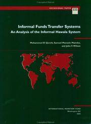 Informal Fund Transfer Systems: An Analysis of the Informal Hawala System (IMF*s Occasional Papers)