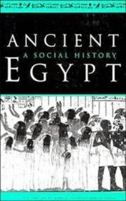 Ancient Egypt: A Social History.