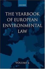 Yearbook of European Environmental Law: Volume 6