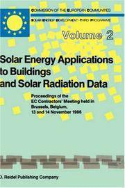 Solar Energy Applications to Buildings and Solar Radiation Data (Solar Energy and Development -...