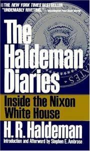 The Haldeman Diaries by H. R. Haldeman - Paperback - May 1995 - from The Book Nook (SKU: 407219)
