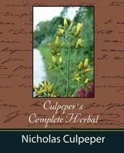 image of Culpeper's Complete Herbal - Nicholas Culpeper