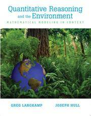 Quantitative Reasoning & the Environment