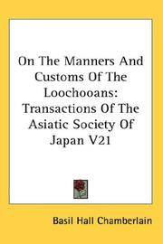 On the Manners and Customs Of the Loochooans