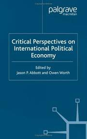 Critical Perspectives on International Political Economy (Advances in Political Science)