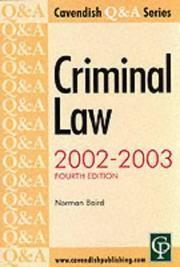 Q & A Series Criminal Law (Q & A)