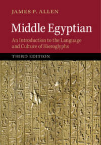 Middle Egyptian: An Introduction to the Language and Culture of Hieroglyphs by  James P Allen - Paperback - 2014-07-24 - from BooksEntirely and Biblio.com