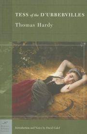 image of Tess of the d'Urbervilles,  Introduction and notes by David Galef