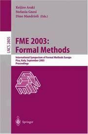 FME 2003: Formal Methods International Symposium of Formal Methods Europe, Pisa, Italy, September...