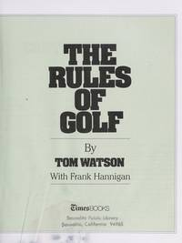 The Rules of Golf 1988 (Paper)