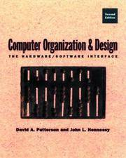 Computer Organization and Design: The Hardware/Software Interface by David A. Patterson - Hardcover - 1997-07-06 - from Books Express and Biblio.com