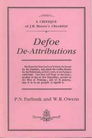 Defoe De-attributions