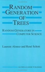 Random Generation of Trees: Random Generators in Computer Science by  René  Laurent; Schott - Hardcover - 1994-12-31 - from JMSolutions (SKU: s37-ATS-xxxx151116008)