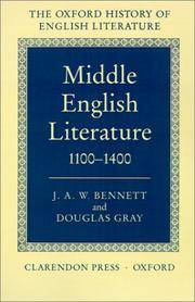 Middle English Literature 1100-1400 (Oxford History of English Literature Vol 1)