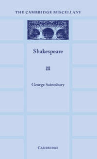 Shakespeare: With an Appreciation by Helen Waddell by George Saintsbury - Paperback - 1 - 2012-04-19 - from Ergodebooks (SKU: SONG1107624290)