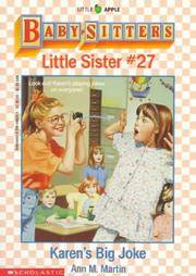 Karen's Big Joke (Baby-Sitters Little Sister, No. 27) by  Ann M Martin - Paperback - 1992 - from Never Too Many Books and Biblio.com