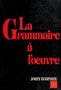image of La Grammaire a Loeuvre
