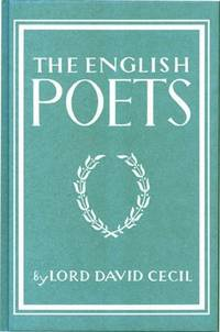 The English Poets (Writer's Britain Series) Cecil, Lord David