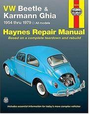 image of VW Beetle & Karmann Ghia 1954 through 1979 All Models (Haynes Repair Manual)